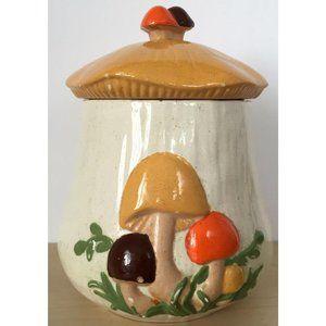 Vintage 70's Ceramic Mushroom Cookie Jar